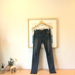 Korean brand dark blue skinny jeans